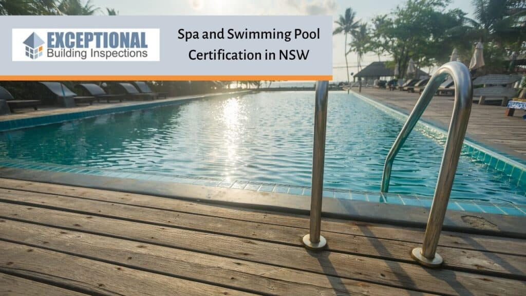 Spa and Swimming Pool Certification in NSW